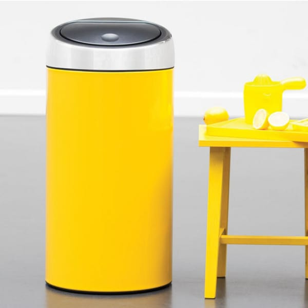 beyond stainless steel colorful kitchen trash cans from brabantia