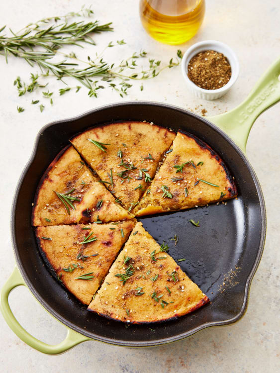 Socca Gluten Free Chickpea Flour Flatbread Recipe Kitchn