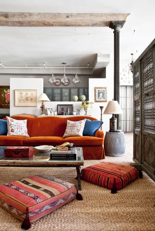 Bedroom Colors Orange complementary colors & how to decorate with them | apartment therapy