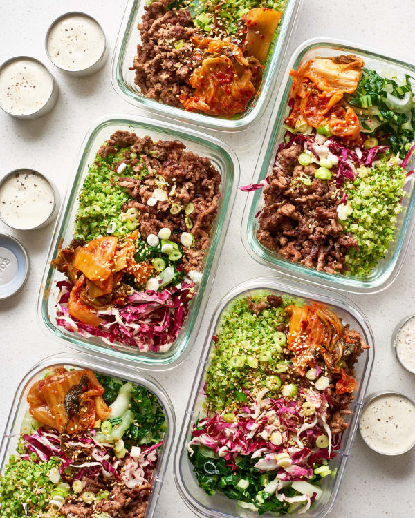 Low Carb Meal Prep A Week Of Meals Kitchn