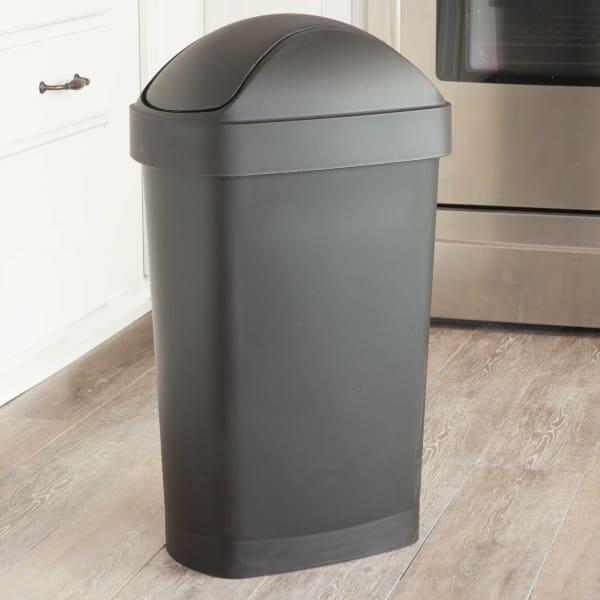 Umbra Flippa 8 Gallon Trash Can At Bed Bath And Beyond, $14.99