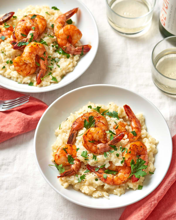 parmesan risotto with roasted shrimp recipe kitchn