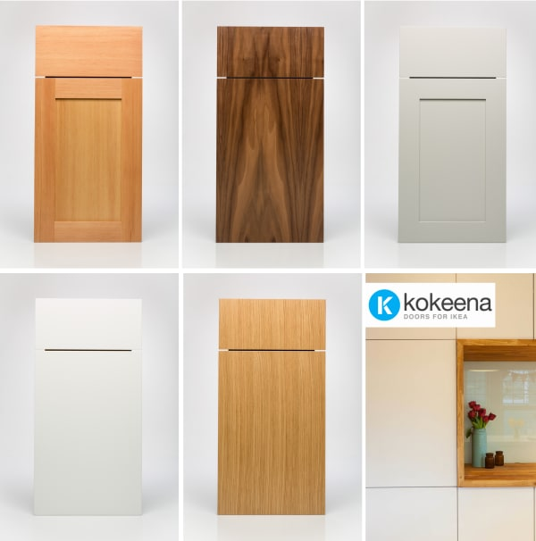 Ikea Kitchen Wood Cabinets: Kokeena: Real Wood Ready-Made Cabinet Doors For IKEA