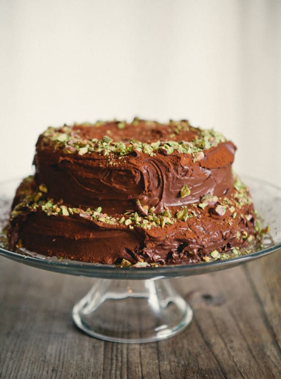 Birthday Cake Recipe Double Chocolate Sour Cream Cake Kitchn
