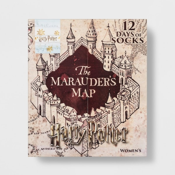 harry potter marauders map 12 days of socks advent calendar image credit target