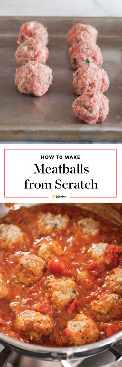 How To Make Meatballs The Easiest Simplest Method Kitchn