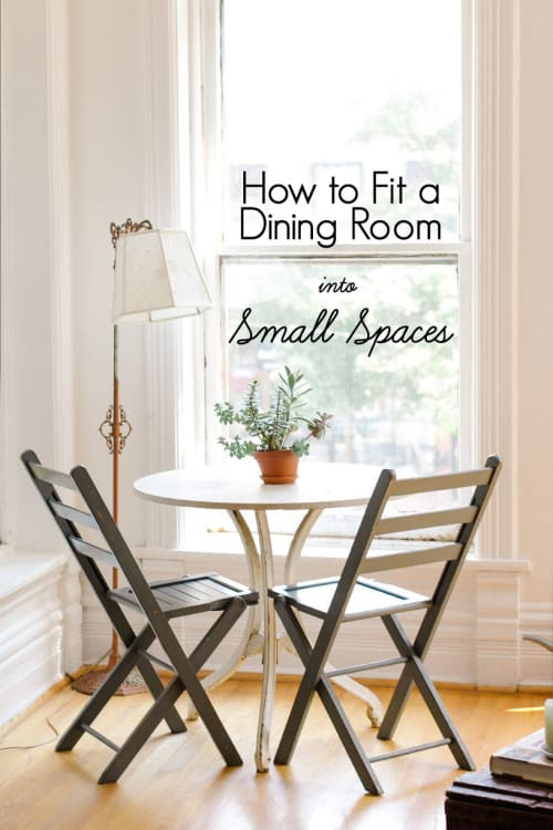 How To Fit A Dining Room Into Small Spaces Apartment Therapy