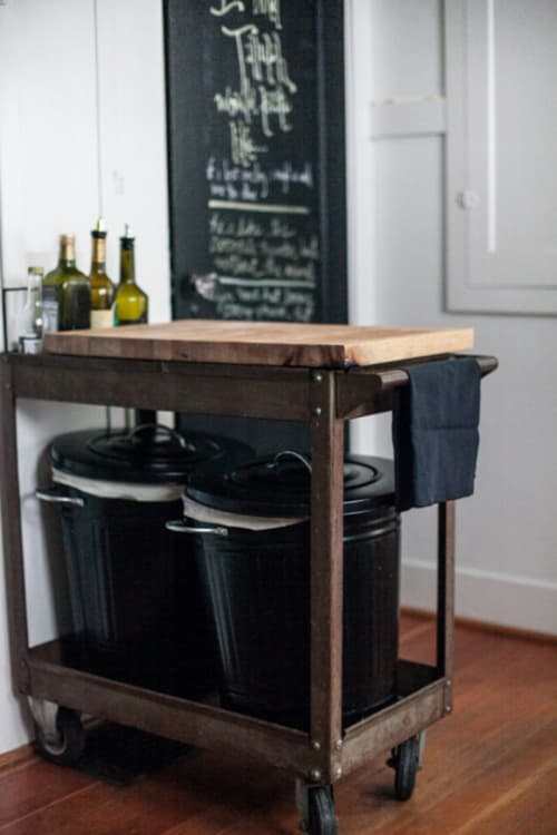 can you put an island in a small kitchen no place to put the trash can use the bottom of a kitchen 9959