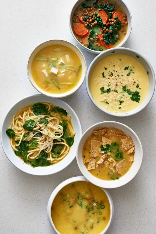 6 Quick Easy Ways To Turn Chicken Broth Into Dinner Kitchn