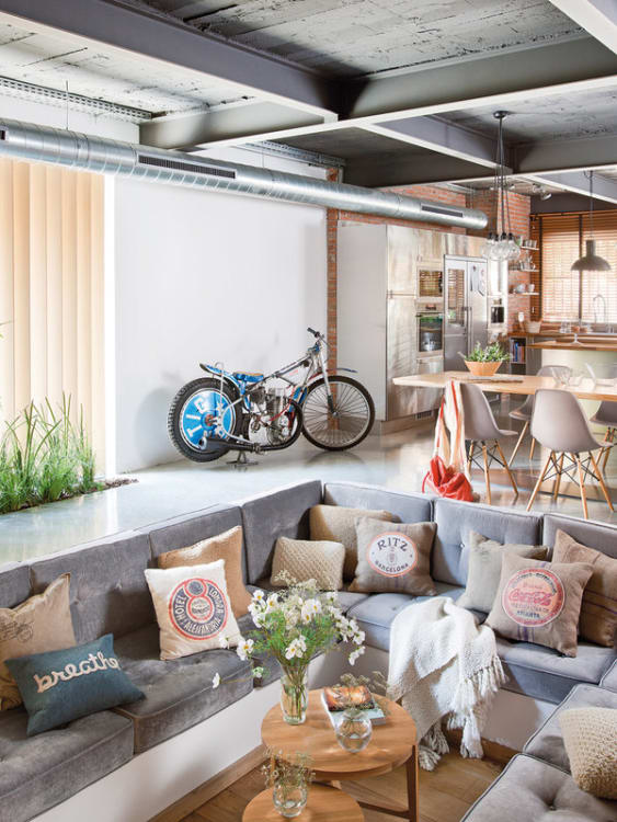 History Sunken Living Room Apartment Therapy Modern Design Spotted Mi