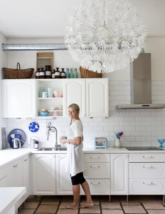 Beau For Kitchens With High Ceilings Or For Anyone Unafraid To Go Big And Bold,  An Oversized Pendant Light In The Kitchen Is A Total Eye Catcher.