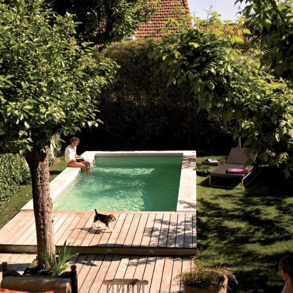 12 Small Pools for Small Backyards | Apartment Therapy on tiny ponds, tiny swimming pools, tiny spa pools, tiny fireplaces,