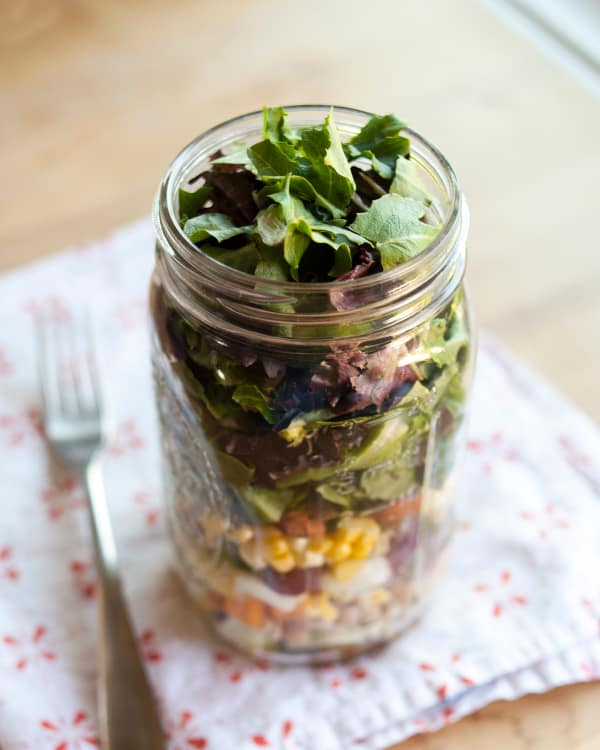 how to pack the perfect salad in a jar kitchn