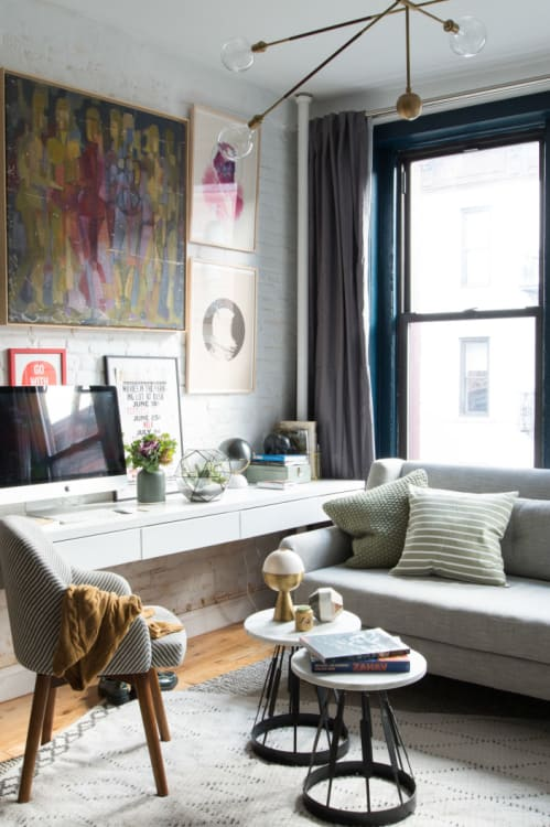 Small Living Room Office Ideas: 7 Ways To Fit A Workspace Into A Small Space