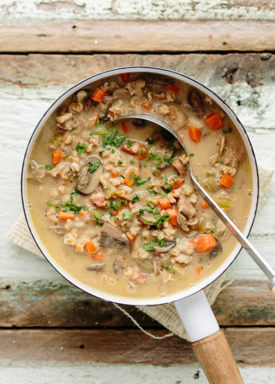 Ina Garten Mushroom Farro Soup Recipe And Review Kitchn