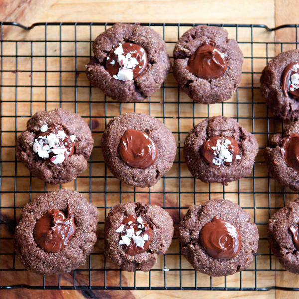 Recipe Triple Chocolate Peppermint Thumbprint Cookies Kitchn