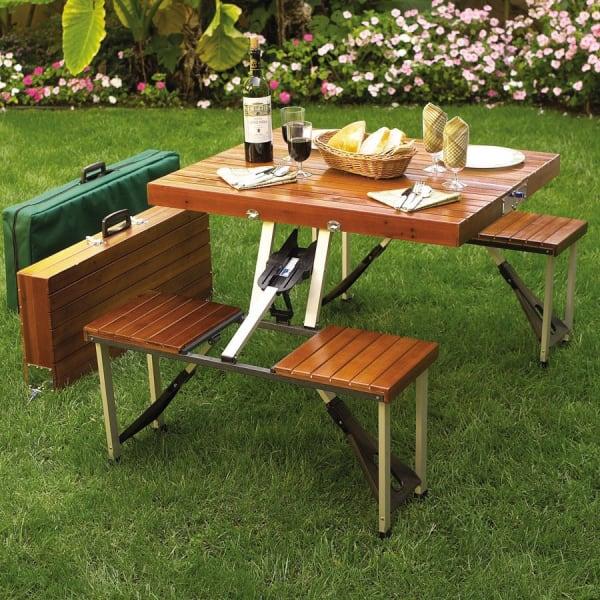 (Image Credit: Wayfair). Octagonal Wood Outdoor Dining Table