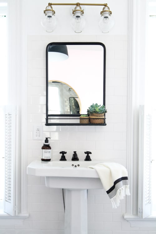 How to Hang a Bathroom Mirror on Ceramic Tile | Apartment Therapy