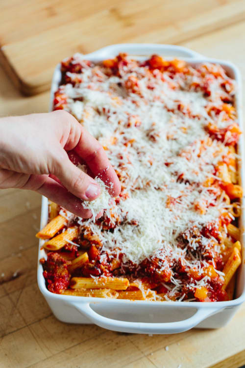 Recipe Italian Sausage And Peppers Baked Ziti Kitchn
