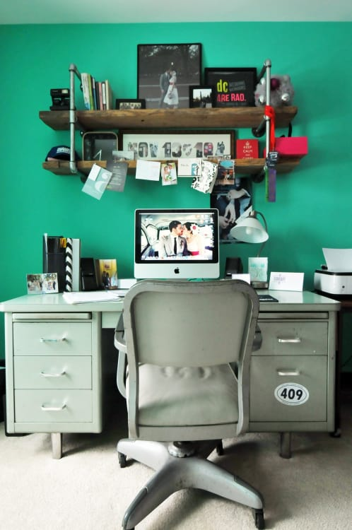 Office workspace ideas Open Concept Home Office Ideas How To Create Stylish Functional Workspace 263b0e5d378b246a12f80dd7e556325c5acaea3b Apartment Therapy Home Office Ideas How To Create Stylish amp Functional