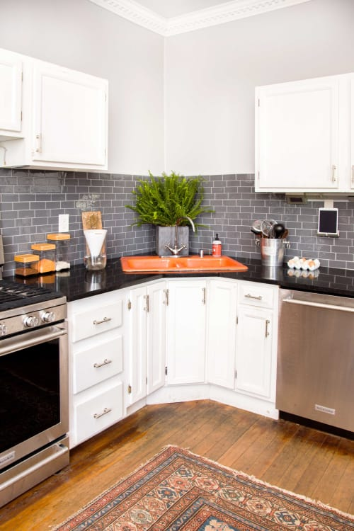 Colorful Kitchen Sink Trend Kitchen Design Trends Apartment Therapy - Colorful-kitchen-design