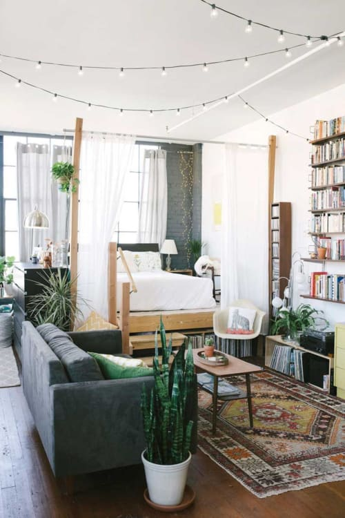 How to create a separate bedroom in a studio apartment - How to divide a living room into a bedroom ...