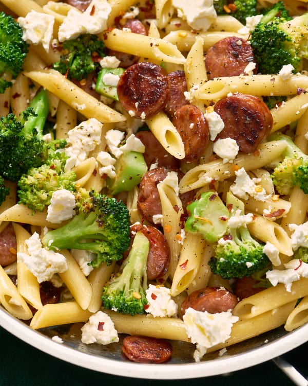 Pasta With Feta Broccoli And Sausage Kitchn