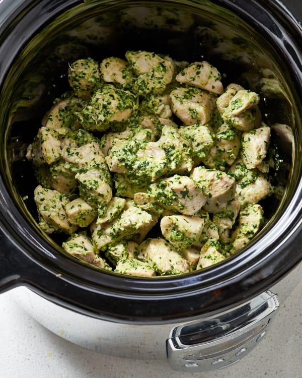 Slow Cooker Pesto Chicken Recipe Kitchn