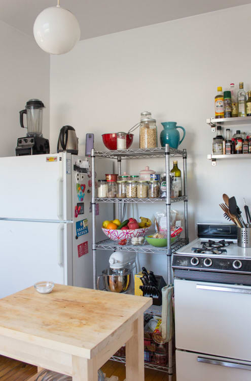 The Wire Shelving Unit That Solved My Small Kitchen Storage Woes