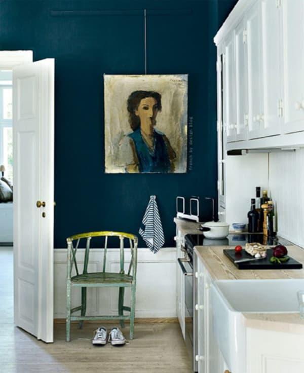 Dark Teal Kitchen Cabinets: Kitchen Colors: Dark Teal Walls