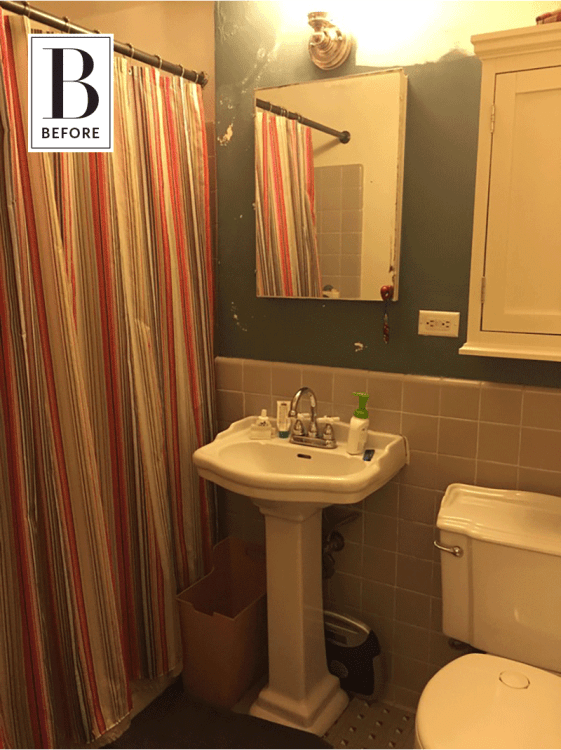 Before After An 80s Bathroom Remodel Mixes Old New Apartment