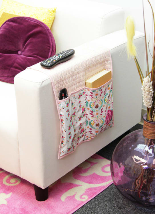 Weekend Diy Sew Your Own Remote Control Caddy Apartment Therapy