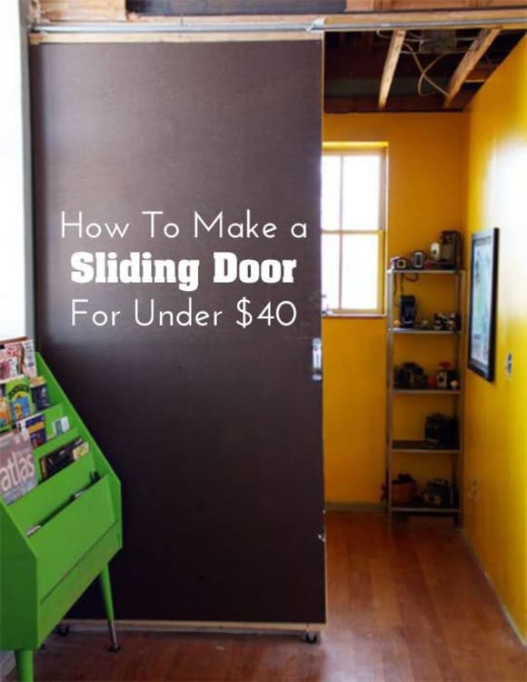 DIY Home Decor: How To Make A Sliding Door For Under $40 | Apartment Therapy