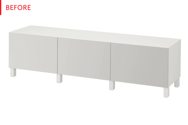 Credenza Ikea Besta : Before and after: the best ikea bestÅ hack weve seen in ages