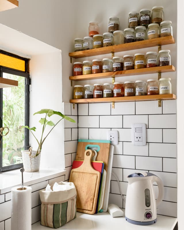 Kitchen Shelves No Cabinets: 8 Ways To Create A Pantry In Even The Tiniest Kitchen