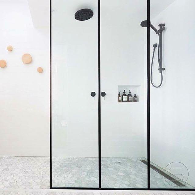 Bathroom Shower Doors Black Steel Frame Enclosures