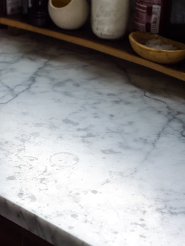 Here S What An Etch On A Marble Countertop Actually Looks
