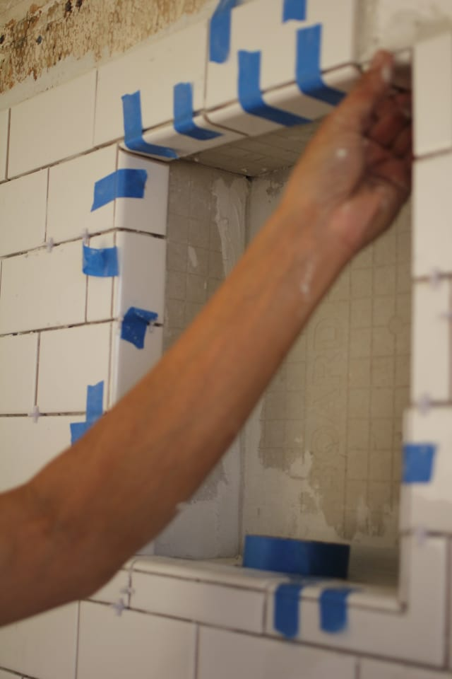 DIY Renovation Project: How To Build a Recessed Shower ...
