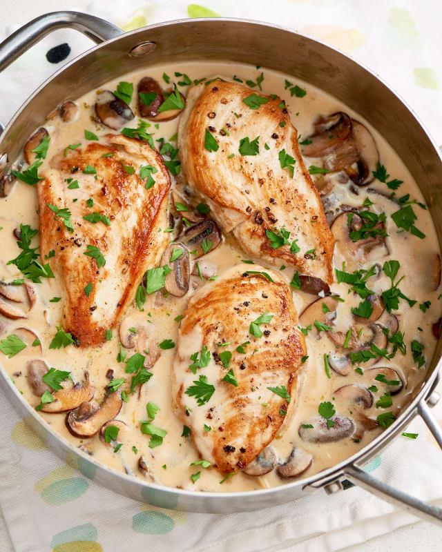 Creamy Garlic Mushrooms: The Best Creamy Parmesan Mushroom Chicken Recipe