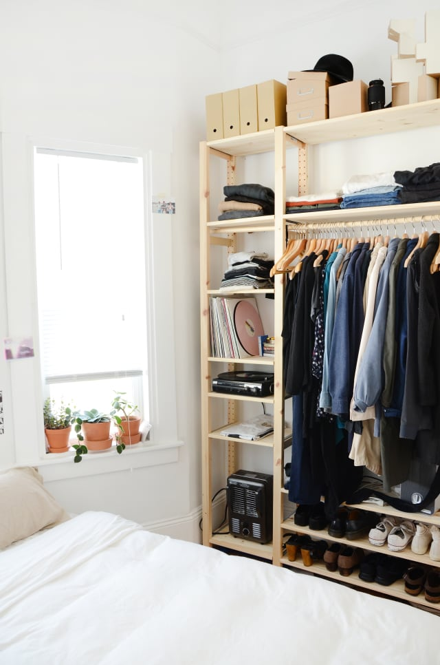 How To Create A Bedroom Quot Closet Quot With Clothing Racks