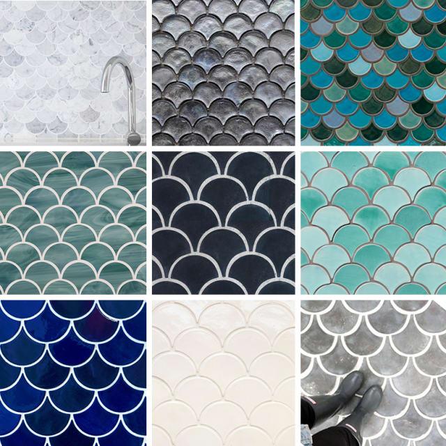 Tile Best Sources For Fish Scale Fan Amp Scallop Design