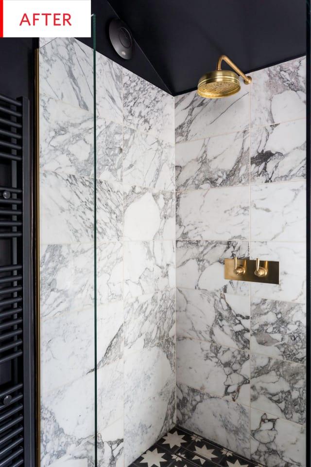 Renovar la ducha con mármol