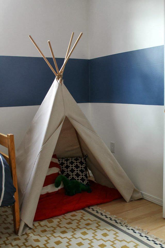 Budget Diy Room Decor Using Drop Cloth Apartment Therapy