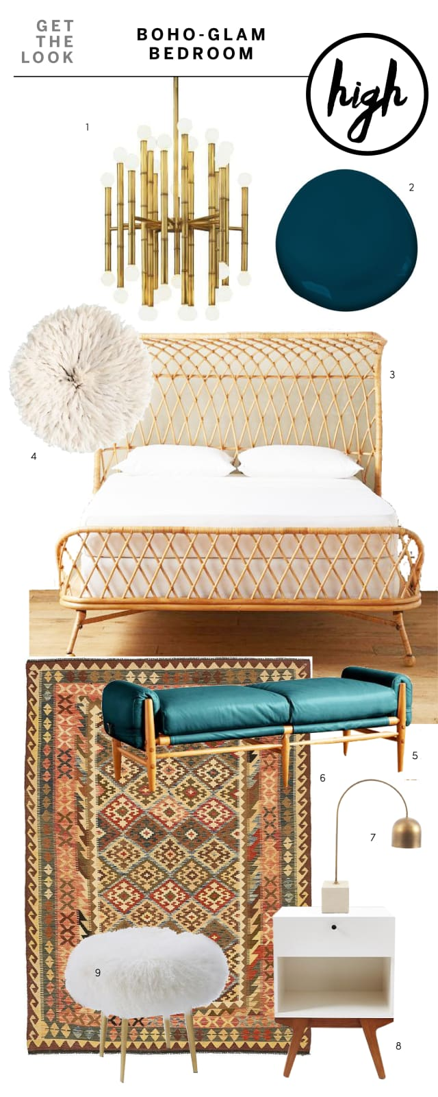 High Amp Low Get The Boho Glam Bedroom Look Apartment Therapy