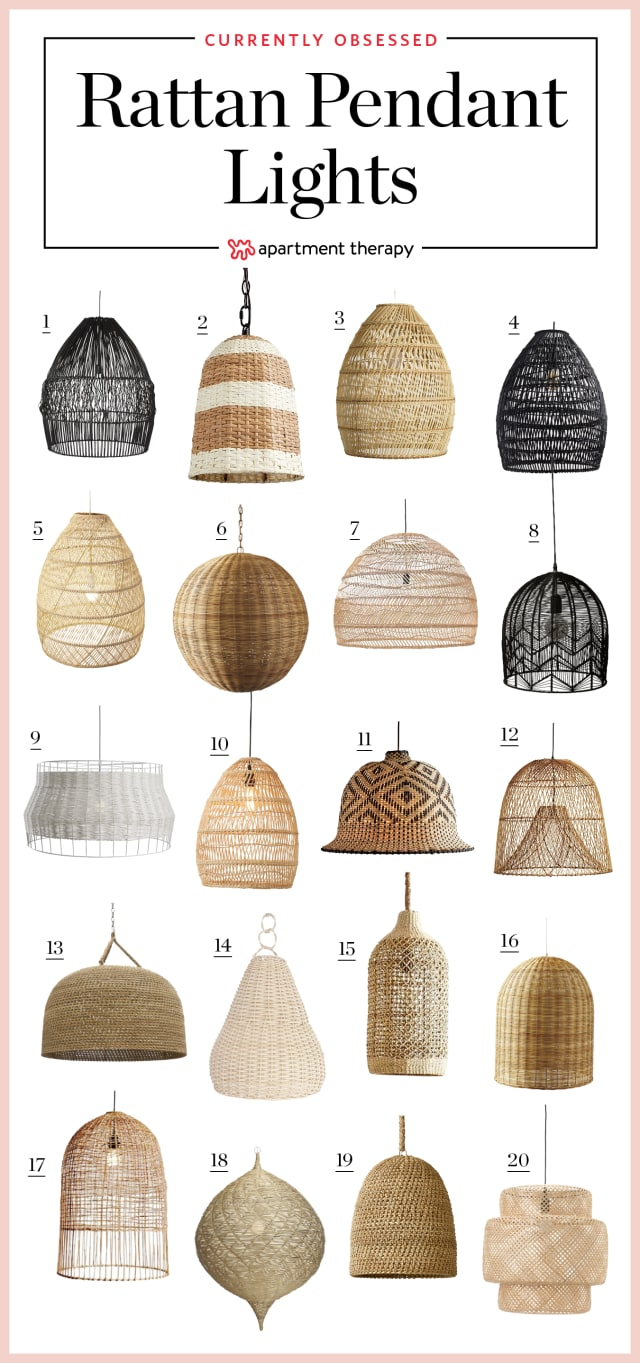 Currently Obsessed: Rattan & Wicker Pendant Lights ...
