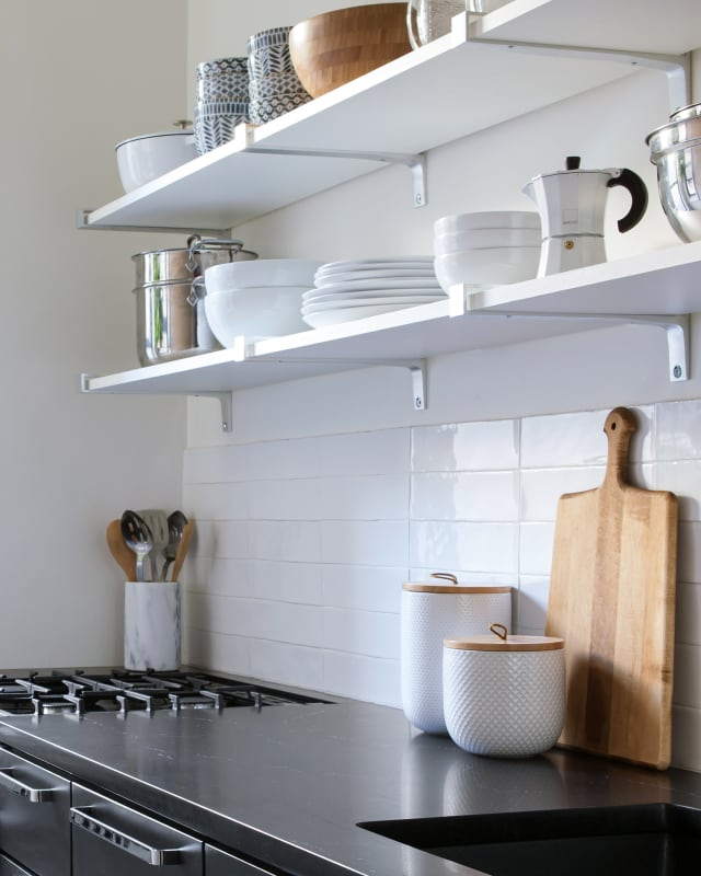 Apartment Therapy Kitchen Shelves: Storage Tips From Small NYC Kitchens