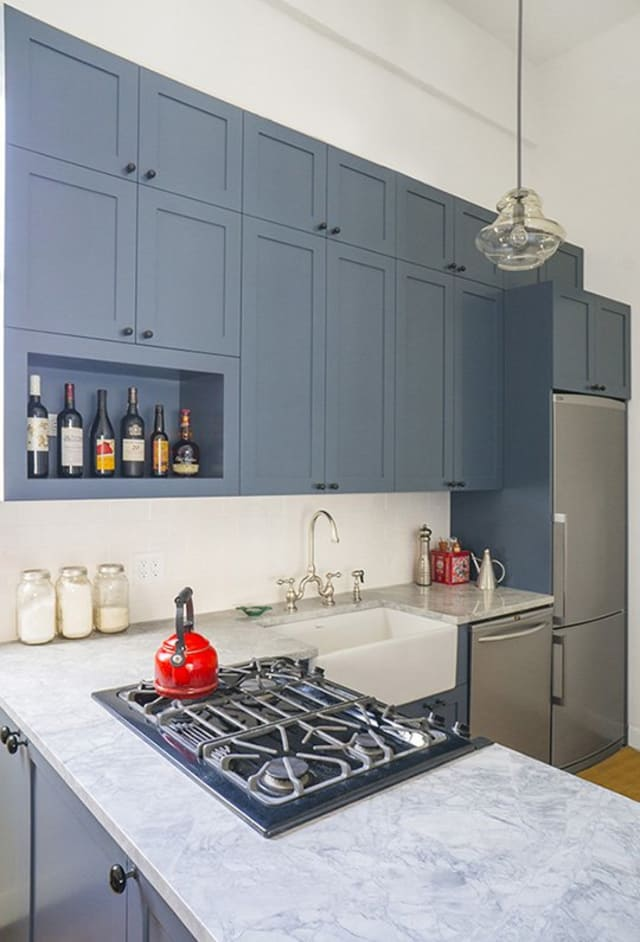 shelving for kitchen cabinets before amp after a park slope kitchen looks up apartment 5186