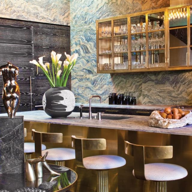 Regina Kitchen Cabinets: Are These Brass And Gold Metallic Kitchen Cabinets Glam