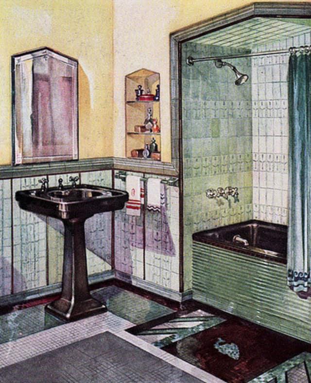 Colorful Tile in 1920s & Art Deco Bathrooms | Apartment ...