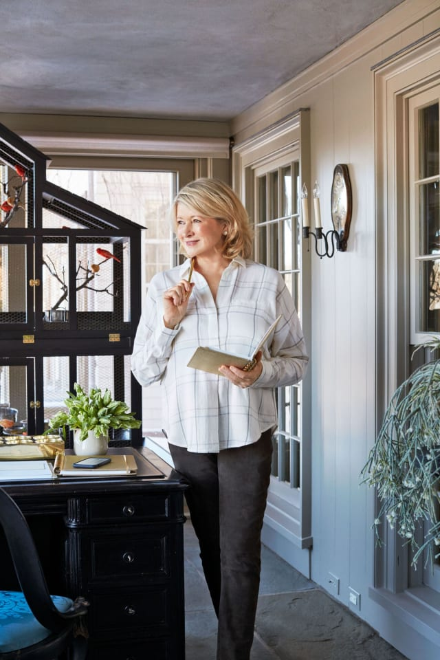 Martha Stewart's Porch-Turned-Office Is Peak Martha Stewart